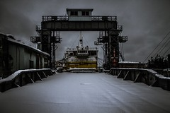 I was a ship ii (Ka-merameha) Tags: ship harbor wharf old street snow ocean museum ngc