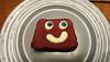 Cake Smiley (boeckli) Tags: smiling smileonsaturday selfmadesmiley smiley cake eyes round circle kuchen saturday hsos sos food essen dessert plate teller yummy nachtisch blaubeeren blueberries custard vanillesauce
