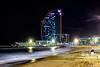 Solitude (j.borras) Tags: solitude w hotel barceloneta beach night street photography waves 50mm barcelona bcn mediterranean sea