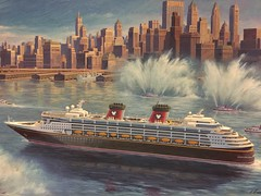 "Painting of the Disney Wonder in New York • <a style=""font-size:0.8em;"" href=""http://www.flickr.com/photos/28558260@N04/24562688518/"" target=""_blank"">View on Flickr</a>"