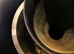 Thrust (studioferullo) Tags: abstract art beauty bright colorful colourful colors colours contrast dark design detail edge light metal minimalism perspective pattern pretty shadow study texture tone weathered world washington dc rocket saturn air space museum lines curve explore