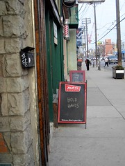 ... or a beer ? (f o t o o r a n g e) Tags: sandwichboard chalkboard bar collegestreet toronto