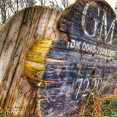 Rotten Outdoor HDR (Nils Hempel | Photography) Tags: hdr outdoor contrast colors round blue yellow wood used rotten object details