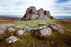 The Iconic Haytor Tor on Dartmoor (Peter Greenway) Tags: barren bleak landscape tor devon flickr moor haytor dartmoor rocky