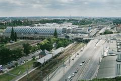Bird's eye view (przemyslawkrzyszczuk) Tags: poznan glowny railway station stacja roosevelta ulica street miasto city europa polska poland wielkopolska train avenida dworzec
