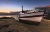 le Langoz et Roscoff (Francois Le Rumeur) Tags: bateau ship ocean sunset sky clouds red burn langoustier roscoff vacances holidays sand sable plage travaux baie hd 4k nikon d810 boat reflet reflect