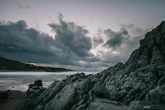 Atxabiribil (jdelrivero) Tags: provincia mar geologia sunset atardecer rocas costa ciudad olas bizkaia sopelana elementos playa geology beach elements puestadesol sea sopela euskadi españa es