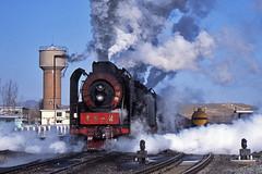 Mainline steam's last gasp (Bingley Hall) Tags: rail railway railroad transport train transportation trainspotting locomotive engine stea steam asia china lindong jitong 2102 qj freight