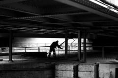 The arched man (pascalcolin1) Tags: paris homme man vouté arched lumière light ombres shadows photoderue streetview urbanarte noiretblanc blackandwhite photopascalcolin canon50mm 50mm canon chaine chain