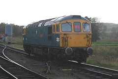 """33102 """"Sophie"""" at Cheddleton October 2017 (Ado Griff) Tags: 33102 sophie churnetvalleyrailway cheddleton class33 brcwtype3 d6513 sulzer"""