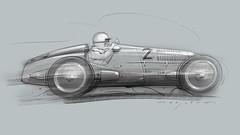 MB W125 s (Stefan Marjoram) Tags: sketch drawing ipad pro procreate apple pencil car vintage racing plein air