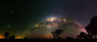 Milky Way setting over Herron Point, Western Australia
