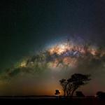 Milky Way setting over Herron Point, Western Australia thumbnail