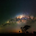 Milky Way setting over Herron Point, Western Australia