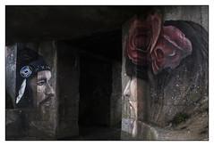 Face à Face... (De l'autre côté du mirOir...) Tags: zagsia plougonvelin blokhaussdelacasquette pointesaintmathieu bretagne finistère 29 breizh bzh brittany fr france french streetart graffiti fresquesmurales nikon nikkor d810 nikond810 240700mmf28 blockhaus