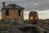 IBCX 814 @ LaCrosse, IN (Michael Polk) Tags: chesapeake indiana railroad boxcar company freight train wade tower la crosse hanna searchlight signal qn co monon