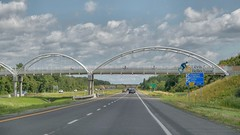 A Cyclist's Dream (Note-ables by Lynn) Tags: quebec levis transcanadahighway overpass cycling bridges
