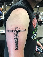 Crucified Skinhead tattoo by Wes Fortier @ Burning Hearts Tattoo Co. Waterbury, CT. Instagram: @wesdtc Facebook: facebook.com/burningheartstattoo
