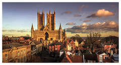 Lincoln Skyline. (Ian Emerson) Tags: lincoln cathedral lincolnshire skyline clouds houses architecture landscape outdoor rooftops tower heritage england uk canon omot light shadows