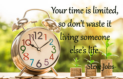 Your Time is Limited...Steve Jobs Quote (Javcon117*) Tags: clock steve jobs quote text words typography time your limited waste living someone life motivational alarm about javcon117 wakeup serious motivate philosophical philosophy
