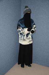 Fleece Jacket (Warm Clothes Fetish) Tags: slave maid sweat warm hot winter coat boots apron girl niqab hijab burka chador torture fleece fur hat