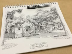 Sketch for a new neighbor (schunky_monkey) Tags: neighborhood penandink ink pen fountainpen illustrator artist illustration art drawing draw sketching house sketch residential