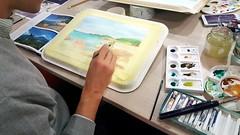Painting (tripu) Tags: 2017 november spain madrid lastablas tablas palomar class classroom workshop art paint painting sitting hand table lesson watercolour landscape tripu brush