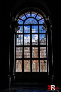 -outside the window-