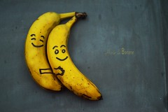 banane (Chocolatine photos) Tags: bananes fruit jaune deux minimaliste makemesmile photo photographesamateursdumonde nikon nikonpassion nikoneurope flickr flickrelite flickrelitegroup smile smileonsaturday selfmadesmiley ally
