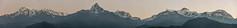 Le massif de l'Annapurna vu de Sarangkot, Népal (Pascale Jaquet & Olivier Noaillon) Tags: panorama5 montagnes neige paysage sarangkot midwesterndevelopmentregion népal npl