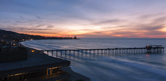 Sunset from the Scripps Institute - San Diego CA (j-mcc3093) Tags: scripps la jolla dock bay sunset nightscape ocean waves long exposure panorama canon ucsd torrey pines 40d 1855mm is kit kitlens uc san diego clouds colors starburst blur motion city lights canon40d