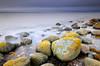 Yellow lichen (allan-r) Tags: boulders sea baltics purekkari lahemaa beach rocks longexposure le fujifilm xt2 cokin nuances xf1024mm