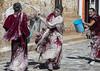 Tibetan monks enjoying a water fight after the yearly renovation of the Rongwo monastery, Tongren County, Longwu, China (Eric Lafforgue) Tags: amdo asia asian bucket buddhism buddhist china china17253 colourimage cultures fighting fun horizontal huangnan humaninterest joy lime longwu men menonly monastery monk monks outdoors qinghaiprovince red ronggonchen rongpo rongwo splashing spraying teenageboys threepeople throwing tibet tibetan tibetanautonomousprefecture tibetanethnicity touristdestination traditionalclothing waterfight wet tongrencounty chn