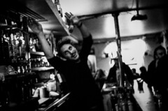 Paris, 2016 (David Rousselle) Tags: street photography original phtotographers tumblr black white leicaphotography leica m6 istillshootfilm filmisnotdead paris by night nightphotography bar party david rousselle