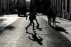 We Are The Champions (sdupimages) Tags: nb bw noirblanc blackwhite street rue shadow ombre boys childs enfants jeux play foot paris