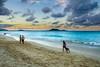 Evening on the beach (rdpe50) Tags: beach sunset evening sand people dog ocean windwardcoast oahu hawaii