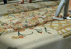 Ornate Mosaic Floor (BKHagar *Kim*) Tags: bkhagar bellagio bellagioconservatoryandbotanicalgarden lasvegas vegas nv floor mosaic tile tiles floral pattern dragonfly