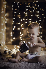 Magical Season (miss.interpretations) Tags: holidays lights bokeh christmaslights fireplace bay toddler blanket ornaments whippedcream mug simplicity happiness contentment colorado portrait innocence castlerock canon 85mm family joy life