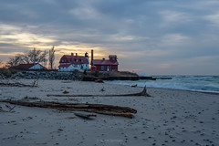 Lumberyard (Aaron Springer) Tags: michigan northernmichigan lakemichigan thegreatlakes pointbetsie pointbetsielight lighthouse shoreline lakeshore beach sand clouds weather storm november waves water twilight outdoor nature landscape