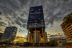 Weskermans Rivonia Road, Sandton (Paul Saad) Tags: weskermans sandton southafrica wunrise sunset architecture street lights colors johannesburg nikon lightroom photoshop clouds sky