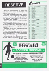 Plymouth Argyle vs Blackburn Rovers - 1991 - Page 22 (The Sky Strikers) Tags: plymouth argyle blackburn rovers barclays league division two home park programme one pound