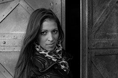 Edina (serkoh) Tags: girl portrait people fashion bw blackandwhite canoneos550d canonef50mmf18ii