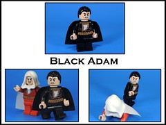 Black Adam (MrKjito) Tags: lego superhero minifig custom comic black adam captain marvel shazam the rock waterslide decals dc comics universe