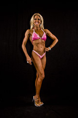 Hot Female Fitness Contestant (Rick Drew - 19 million views!) Tags: fitness workout model heels bikini blonde pose posing posed rip ripped healthy fit