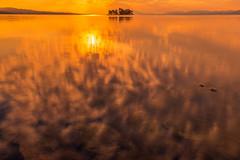 sunset 0494 (junjiaoyama) Tags: japan sunset sky light cloud weather landscape orange contrast colour bright lake island water nature fall autumn reflection abigfave
