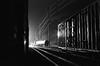 Nocturne (orangedot777) Tags: railyard railroad railroadtracks boxcar night nocturne iiford ilfordfilm ilforddelta3200 delta3200 35mmfilm blackandwhite blackandwhitefilm