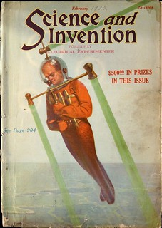 Science and Invention Vol. 9, No. 10 (February 1922). Cover Art titled