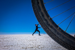 We had some fun with perspectives on the salt flats.