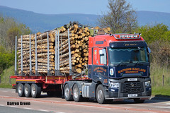 RAPSONS HAULAGE RENAULT T 520 SY65 AOF (Darren (Denzil) Green) Tags: rapsonshaulagehelmsdale sy65aof 540 trange renault helmsdale timberhaulage timbertransport dennisontrailers