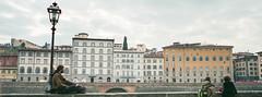 Meditating by the Arno (Taomeister) Tags: florenceitaly fujifilmnpz800 mamiya7 npz800 firenze toscana italy it